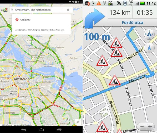 Google térkép és Egérút