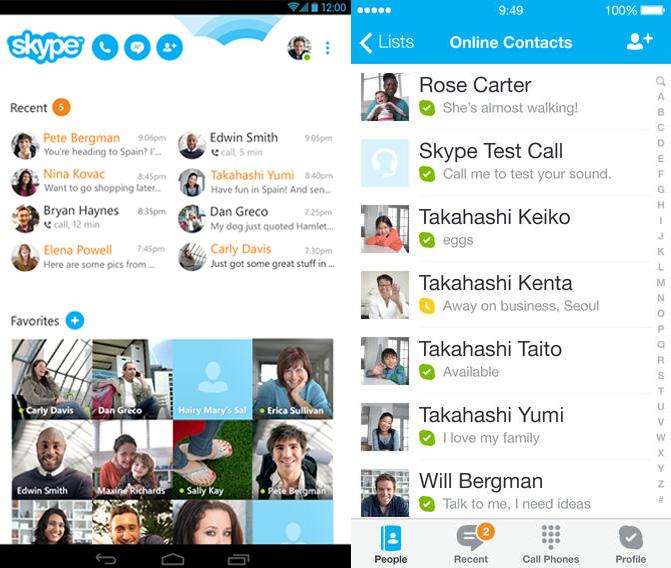Skype Androidra és iOS-re
