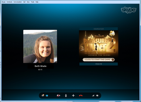 Reklámok a Skype-ban