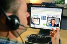 Skype videohívás