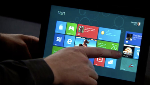 Windows 8 Consumer Preview táblagépen